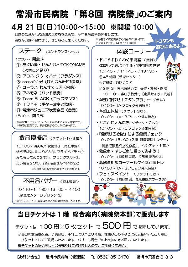 病院祭2019(事前配布・詳細)